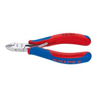 Knipex Elektronik-Seitenschneider mit eingesetzter Hartmetallschneide und Facette 120 mm runder Kopf