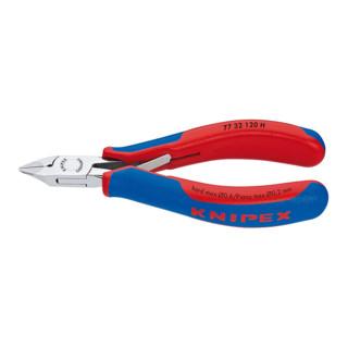 Knipex Elektronik-Seitenschneider mit eingesetzter Hartmetallschneide und kleiner Facette 120 mm spitzer Kopf mit Auskehlung