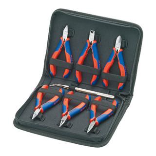 Knipex Elektronikzangen-Set 7-teilig mit Präzisions-Pinzette und Elektronikzangen