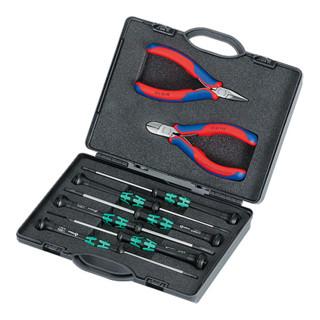 Knipex Elektronikzangen-Set 8-teilig mit Elektronikzangen -und Schraubendrehern