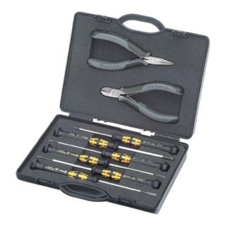 Knipex Elektronikzangen-Set 8-teilig mit Elektronikzangen -und Schraubendrehern ESD Ausführung