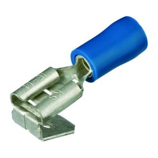 Knipex Flachsteckhülsen mit Abzweig isoliert 6,3x0,8 mm² für Kabel 1,5-2,5 mm² AWG 15-13 blau