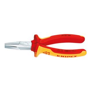 Knipex Flachzange verchromt mit Mehrkomponenten-Hüllen 160mm VDE-geprüft