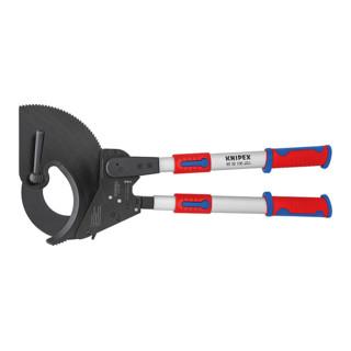 Knipex Kabelschneider (Ratschenprinzip) brüniert mit Mehrkomponenten-Hüllen