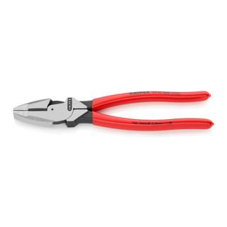 Knipex Kabelzange Lineman's Pliers schwarz atramentiert mit rutschhemmendem Kunststoff überzogen 240mm