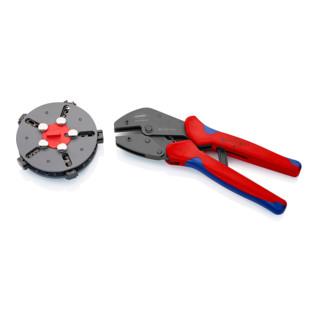 Knipex MultiCrimp® mit Mehrkomponenten-Hüllen 250mm mit 5 Wechseleinsätzen