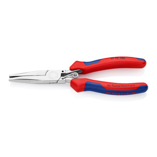 Knipex Polsterklammerzange spiegelpoliert mit Mehrkomponenten-Hüllen 185 mm