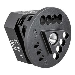 Knipex Positionierhilfe für Crimpzangeneinsatz gedrehte Kontakte HTS/Harting
