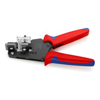 Knipex Präzisions-Abisolierzange mit Mehrkomponenten-Hüllen 195mm Abisolierwerte 0,03-2,08mm²