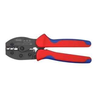 Knipex PreciForce® Crimpzange 220mm für isolierte Kabelschuhe, Steck- und Stoßverbinder 0,5 - 6mm²