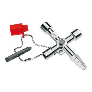 Knipex Schaltschrank-Schlüsse Profi-Key für gängige Absperrsysteme 90mm