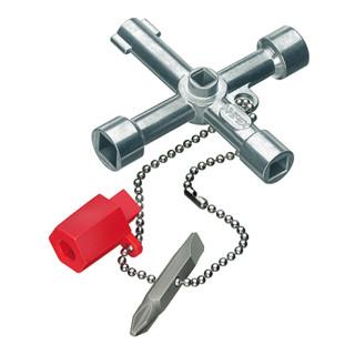 Knipex Schaltschrank-Schlüssel für gängige Schränke und Absperrsysteme