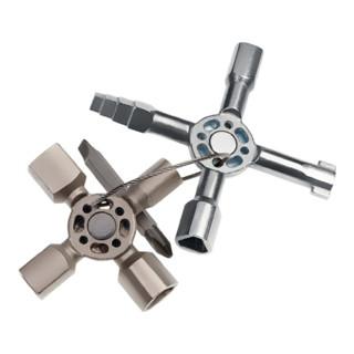 Knipex Schaltschrank-Schlüssel TwinKey® für gängige Schränke und Absperrsysteme 92mm