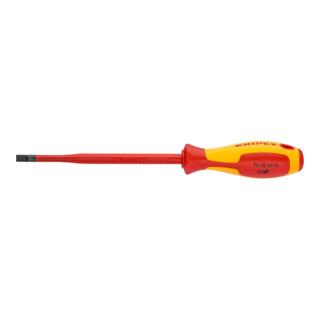 Knipex Schraubendreher isoliert (Slim) für Schlitzschrauben Schneidenbreite 4,0 mm
