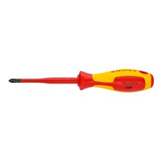 Knipex Schraubendreher (Slim) für Kreuzschlitzschrauben Pozidriv 212 mm