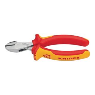 Knipex Seitenschneider X-Cut verchromt mit Mehrkomponenten-Hüllen 160mm VDE-geprüft
