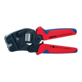 Knipex Selbsteinstellende Crimpzange brüniert mit Mehrkomponenten-Hüllen 190mm für Aderendhülsen 0,08 - 10/16mm²