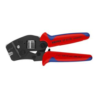 Knipex Selbsteinstellende Crimpzange brüniert mit Mehrkomponenten-Hüllen 190mm für Aderendhülsen 0,08 - 10mm²