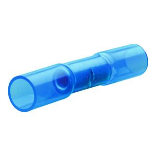 10 St/ück Sto/ßverbinder mit Schrumpfschlauch blau 1,5-2,5 qmm