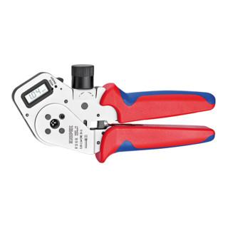 Knipex Vierdornpresszange verchromt mit Mehrkomponenten-Hüllen 195mm für gedrehte Kontakte Patented 0,08 - 2,5mm²