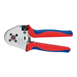 Knipex Vierdornpresszange verchromt mit Mehrkomponenten-Hüllen 230mm für gedrehte Kontakte Patented 0,14 - 6mm²
