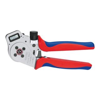 Knipex Vierdornpresszange verchromt mit Mehrkomponenten-Hüllen 250mm für gedrehte Kontakte Patented 0,14 - 6mm²