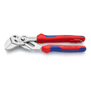 Knipex Zangenschlüssel mit Sicherungsöse verchromt mit Mehrkomponenten-Hüllen 180 mm