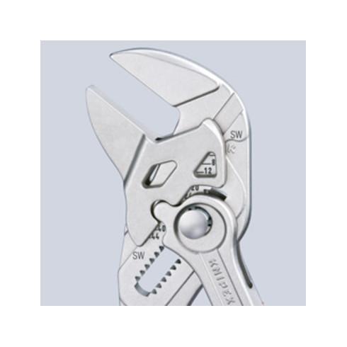 Knipex Zangenschlüssel vernickelt tauchisoliert 250mm VDE-geprüft