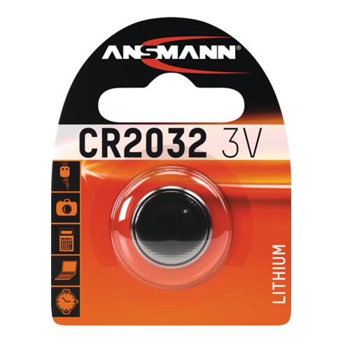 Knopfzelle 3 V 230 mAh CR2032 20x3,2mm 1 St./Bl.ANSMANN