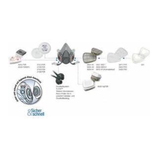 Kombifilter A1B1E1 6057 EN141 f.Art.Nr.4000370680/-690 3M