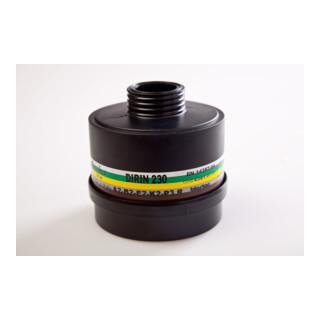 Kombifilter Atemschutz Dirin 230 A2B2E2K2 P3R gegen Gase