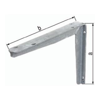 Konsole 300x550mm Stahl roh feuerZN a. T-Profil GAH