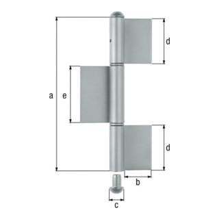 Gustav Alberts Konstruktionsband 3-teilig flach