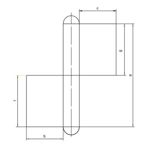 Konstruktionsband KO 4 z.Anschweißen Bandlänge 100mm Lappenbreite 30mm STA blk