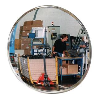 Kontroll-/Sicherheitsspiegel D.600mm Beobachterabstand 8m für innen m.Halterung