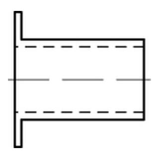 Korrex-Isolierhüls. Kunstst. weiß f. M 12 Länge 15 S