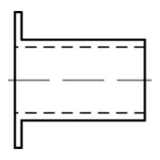 Korrex-Isolierhüls. Kunstst. weiß f. M 8 Länge 22 S
