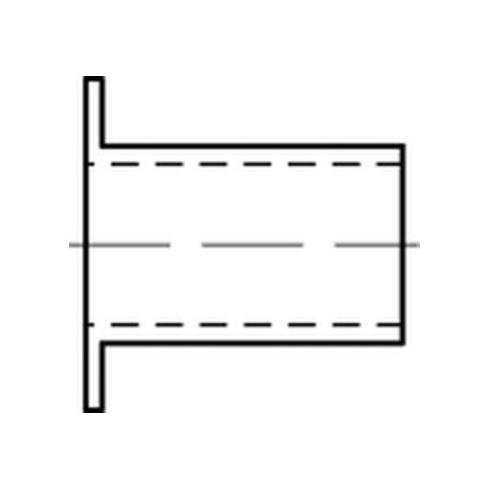 KORREX-Isolierhülsen aus Kunstoff weiß f. M 8 Länge 10 S
