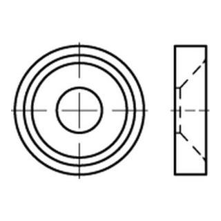Rosette Korrex für Senk- und Linsensenkköpfe