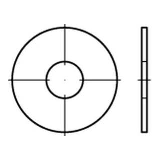Kotflügelscheibe Stahl 4,3x25x1,25mm galvanisch verzinkt