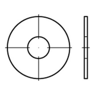 Kotflügelscheibe Stahl 8,4x35x1,5mm galvanisch verzinkt