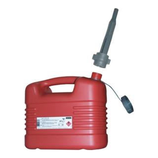 Kraftstoffkanister Inh. 10 l L.329xB.195xH.319mm rot