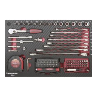 Kraftwerk 3944 AluPro Werkzeugkoffer, 123-teilig