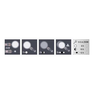 Kraftwerk Alu Taschenlampe mit Zoomfunktion