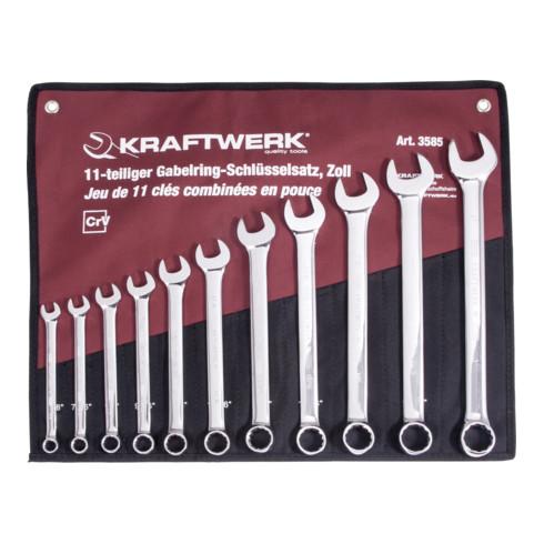 "Kraftwerk Gabelringschlüssel Satz 3/8""-1"" 11-tlg."
