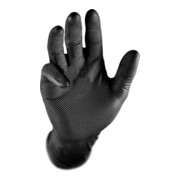 Kraftwerk Schwarze Nitril-Handschuhe Grippaz