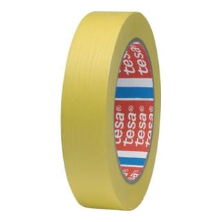 Kreppband Präzisionskrepp 4334 gelb Papier glatt Rolle 50mx25mm