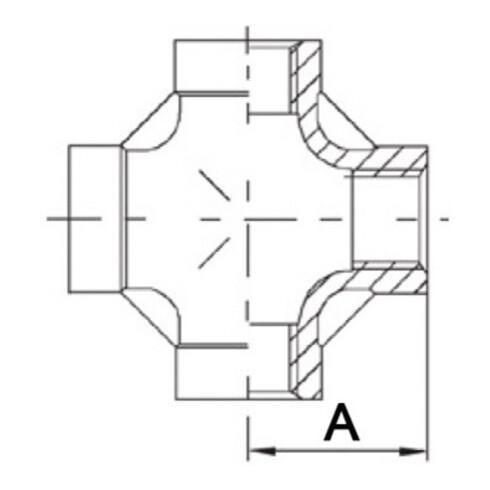 Kreuzstück EN 10226-1 NPS 1 1/4 Zoll IG SPRINGER
