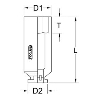 """KS Tools 1.1/2"""" Sechskant-Kraft-Stecknuss, 65 mm, kurz"""