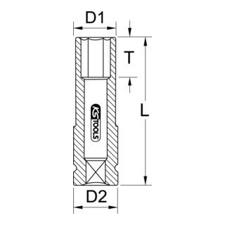 KS Tools 1/2'' Alu-Felgen Kraft-Stecknuss, lang
